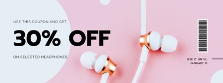 Template di design Headphones Offer on Pink Coupon