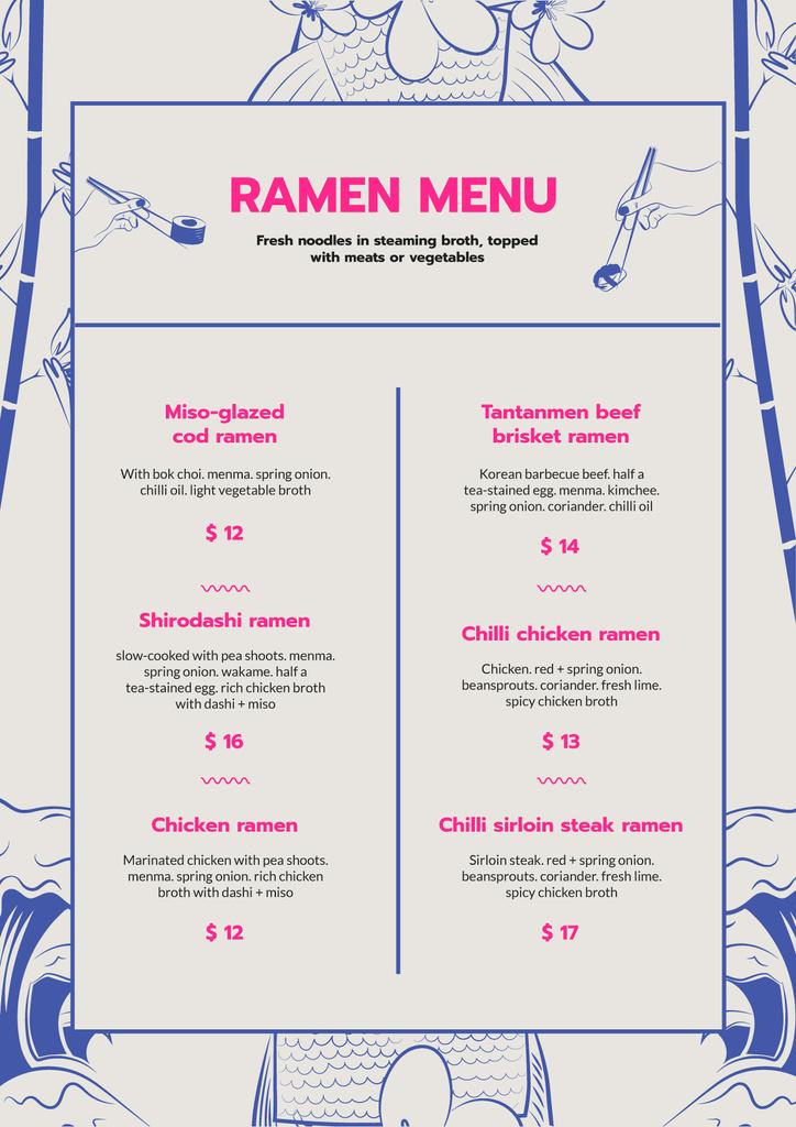 Ramen restaurant noodles — Créer un visuel