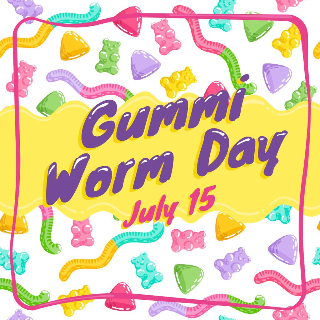 Gummi worm candy Day — Створити дизайн