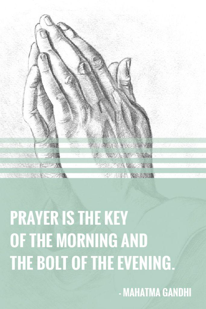 Religion Quote with Hands in Prayer — Crea un design