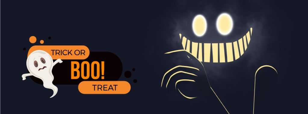 Scary glowing ghost — Create a Design