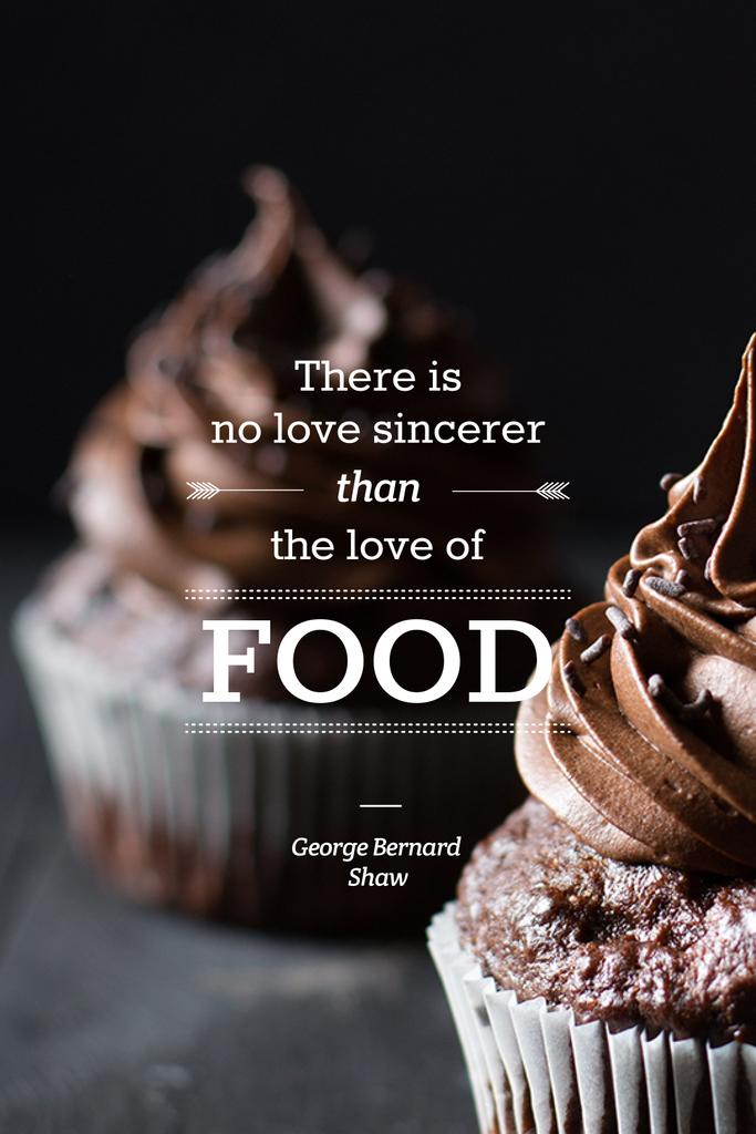 Delicious chocolate muffins with quote — Create a Design
