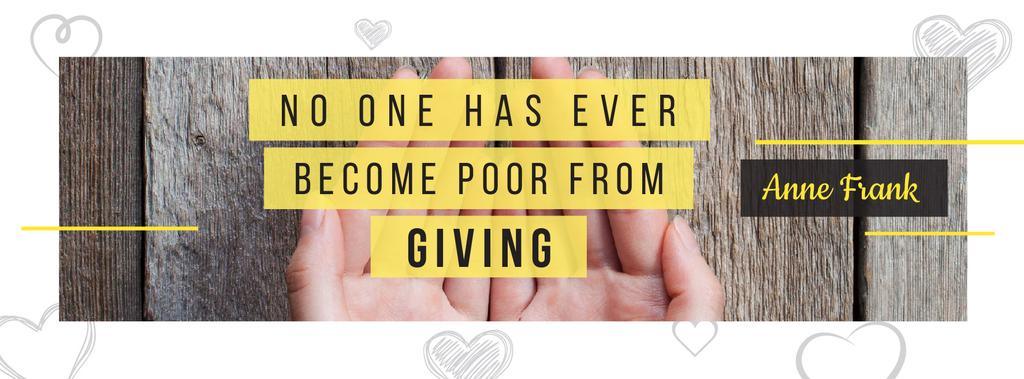 Citation about no one is poor — Crear un diseño