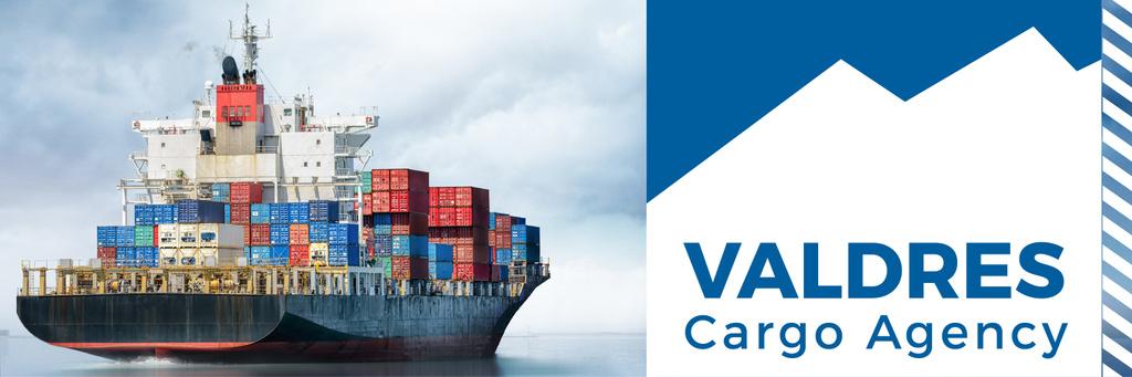 cargo agency banner with ship — Create a Design