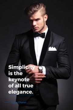 Elegance Quote Businessman Wearing Suit | Pinterest Template