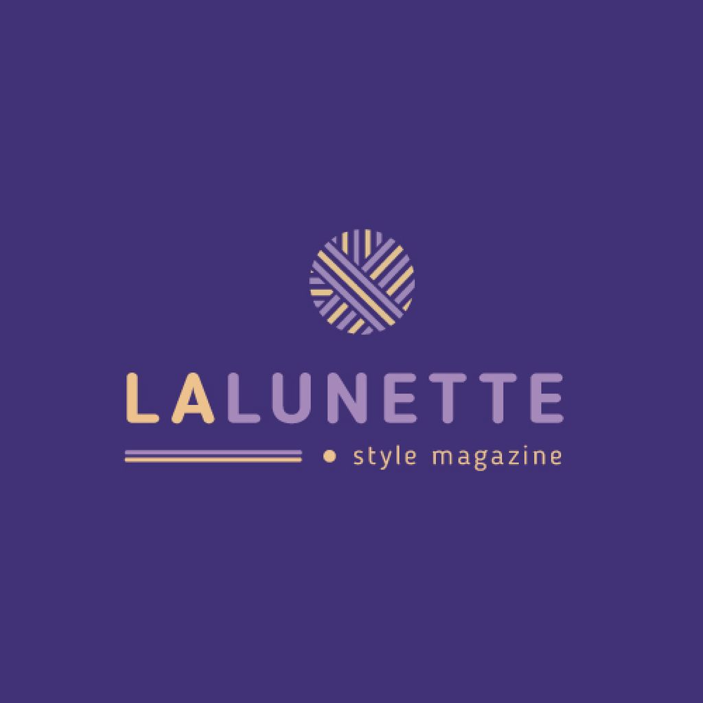 Style Magazine Ad with Geometric Lines Icon — Modelo de projeto