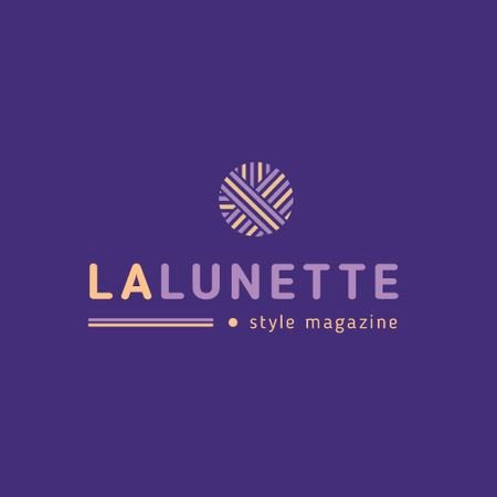Style Magazine Ad with Geometric Lines Icon Animated Logo – шаблон для дизайну