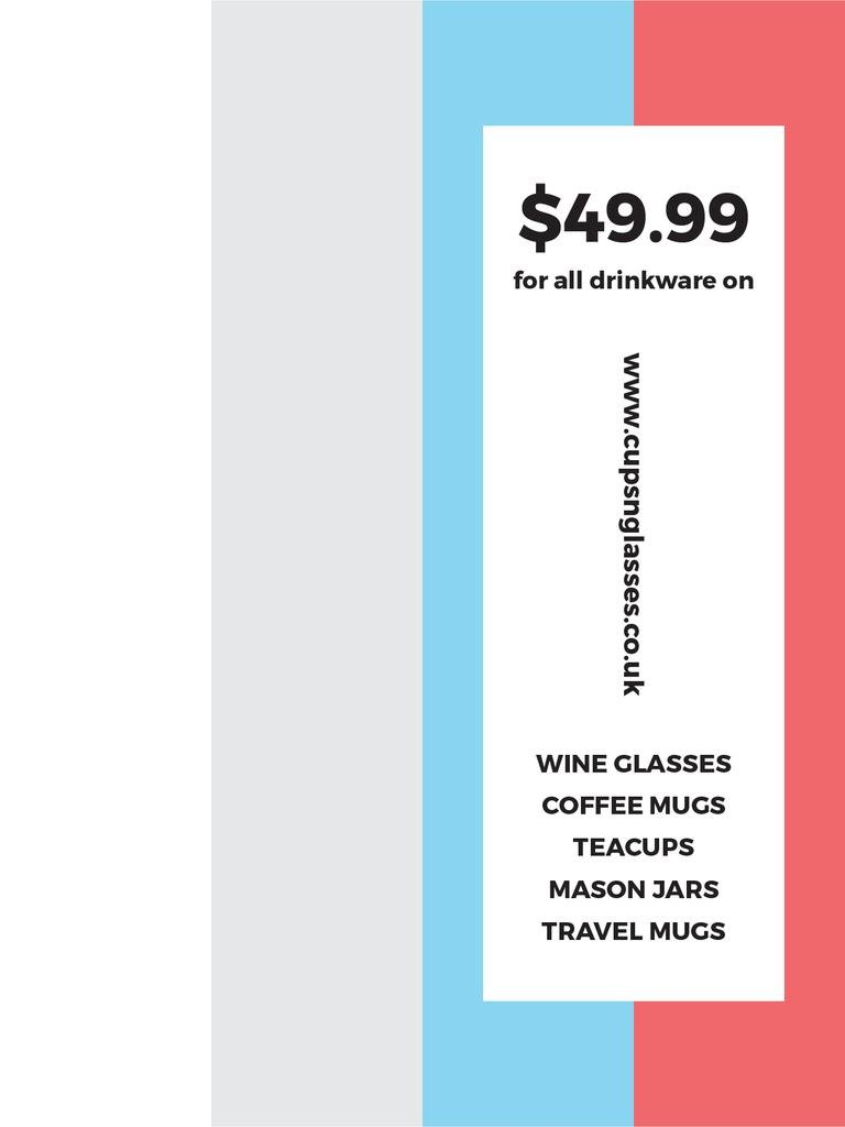 Shop Sale announcement on colorful Stripes Poster US – шаблон для дизайна