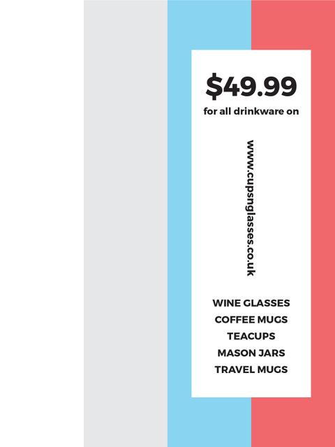 Shop Sale announcement on colorful Stripes Poster US Modelo de Design