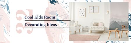 Plantilla de diseño de Kids Room Design with Cozy Interior in Light Colors Email header