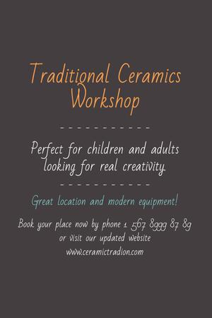 Traditional Ceramics Workshop promotion Tumblr Modelo de Design