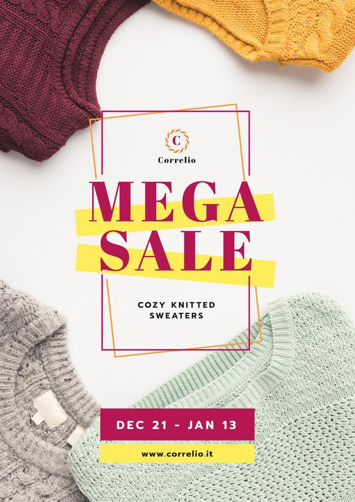 Warm Knitted Sweaters Sale — Create a Design