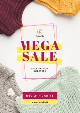 Warm Knitted Sweaters Sale | Poster Template
