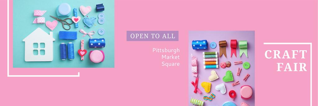 Craft fair in Pittsburgh Twitter – шаблон для дизайну