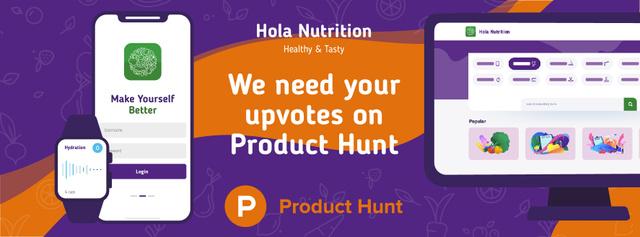 Plantilla de diseño de Product Hunt Education Platform Page on Screen Facebook cover