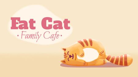 Plantilla de diseño de Cafe Invitation Resting Red Cat Full HD video
