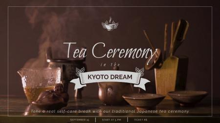 Japanese Tea Ceremony Pot and Ceramics Full HD video Modelo de Design