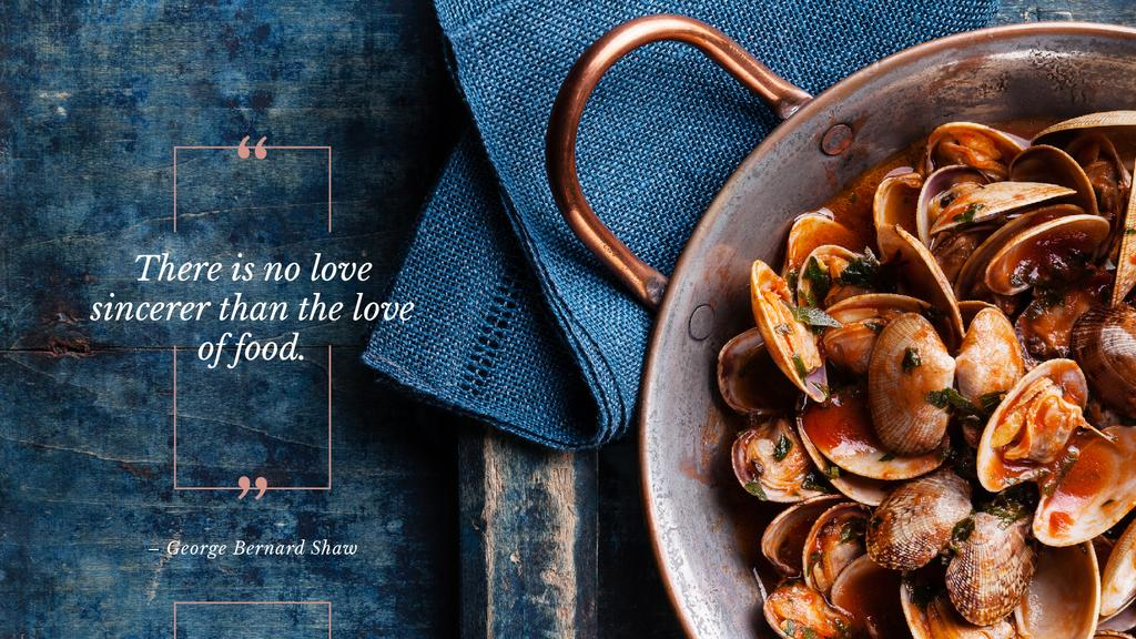 Citation about a love to food — Maak een ontwerp