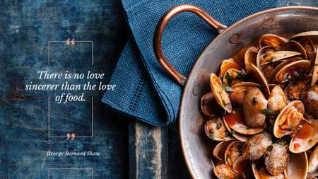 Citation about a love to food Presentation Wide Design Template