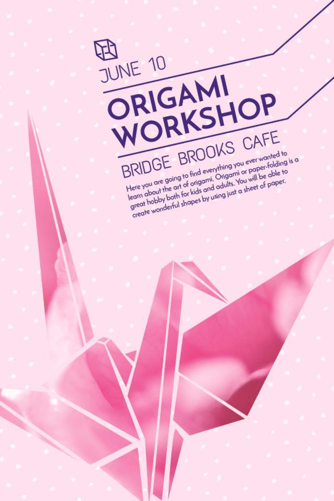Origami class Announcement with paper bird — Créer un visuel