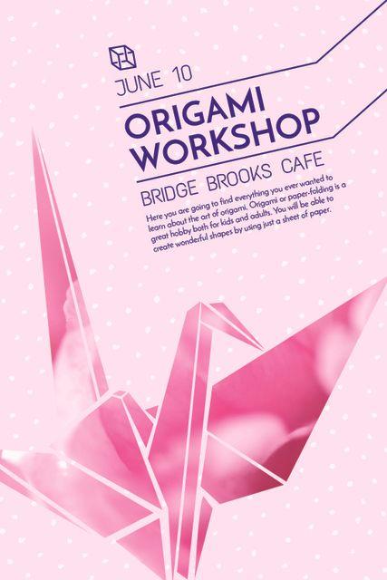Origami class Announcement with paper bird Tumblr – шаблон для дизайна