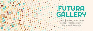 Art Gallery Ad Colorful Dots in Circles | Email Header Template