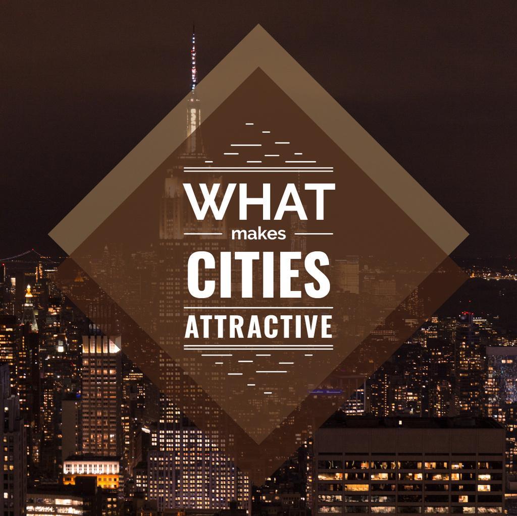 City Guide Night Skyscraper Lights - Bir Tasarım Oluşturun
