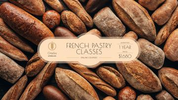 Bakery Ad Fresh Bread Loaves | Youtube Channel Art