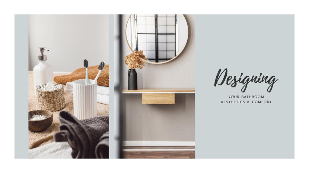 Design Studio ad with Bathroom interior — Crear un diseño