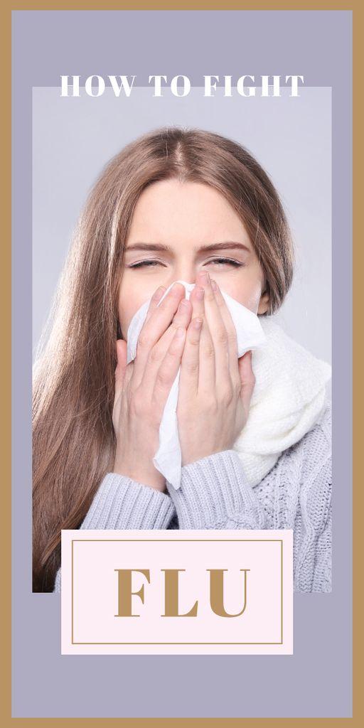 Woman suffering from flu — Create a Design