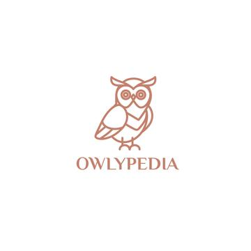 Online Library Wise Owl Icon in Red