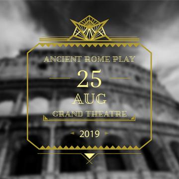 Ancient Rome play poster