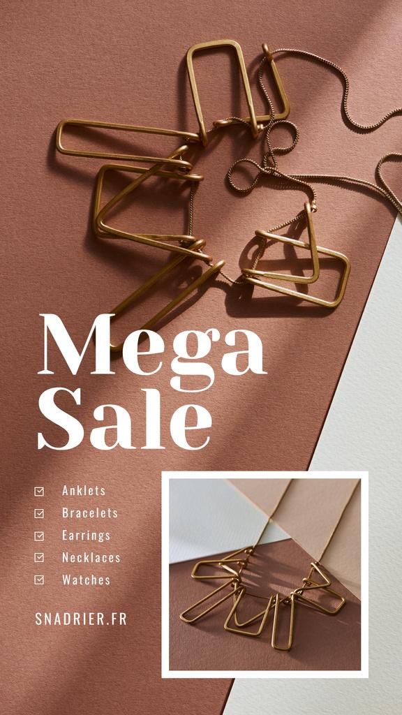 Jewelry Sale Shiny Chain Necklace — Créer un visuel