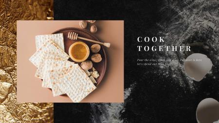 Happy Passover Unleavened Bread and Honey Full HD video Modelo de Design
