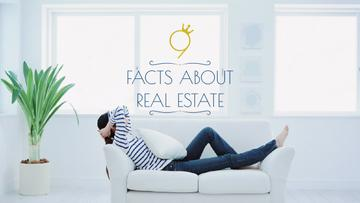 Real Estate Ad Woman Resting on Sofa