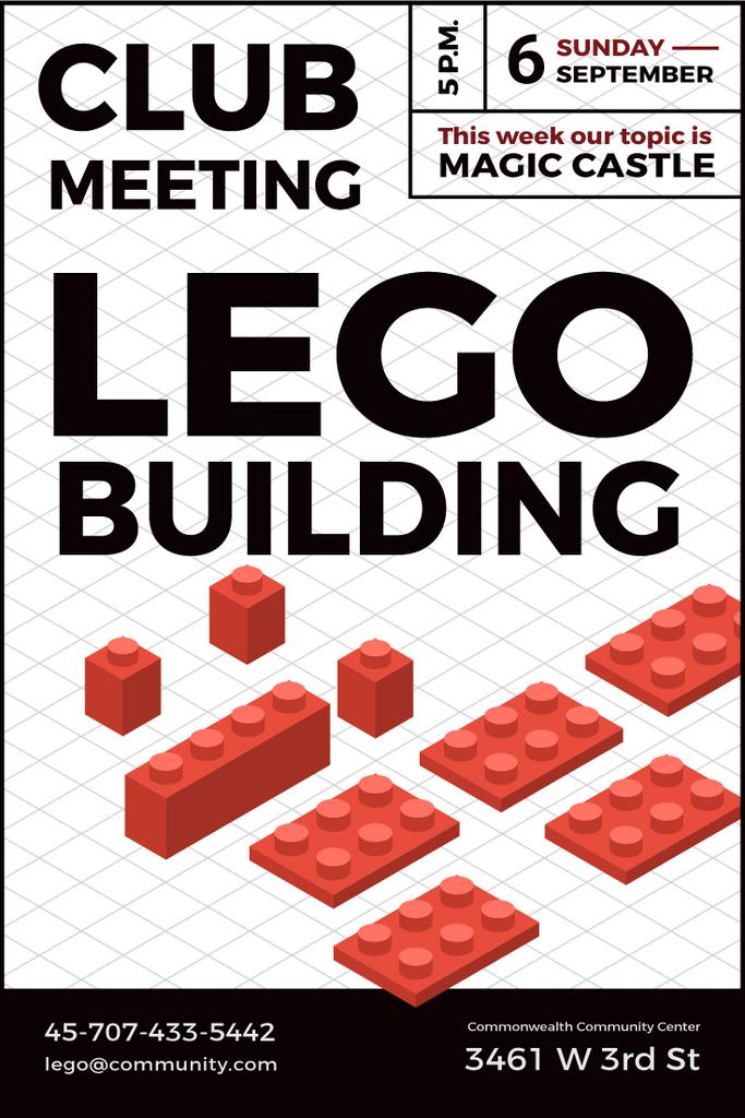 Lego building club meeting poster — ein Design erstellen