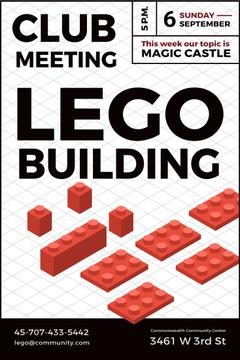 Lego building club meeting poster