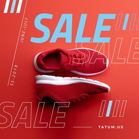 Plantilla de diseño de Sport Equipment Ad with Red Shoes Instagram
