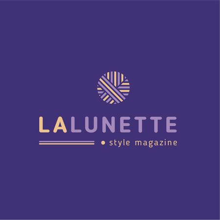 Style Magazine Ad with Geometric Lines Icon Logo Design Template