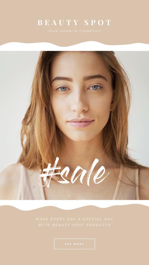 Beauty Sale Young Girl without Makeup — ein Design erstellen