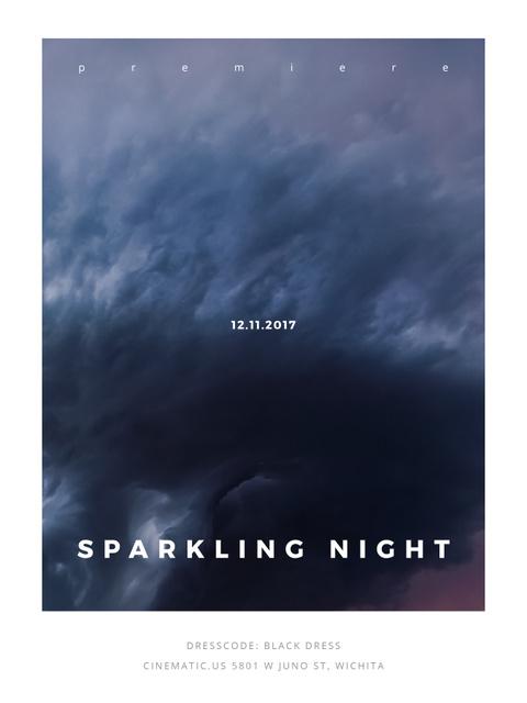 Plantilla de diseño de Party Invitation with Stormy Cloudy Sky Poster US