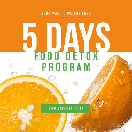 Ontwerpsjabloon van Instagram van Detox Food Offer with Raw Oranges