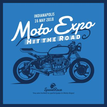 Moto expo Ad with Motorcycle illustration