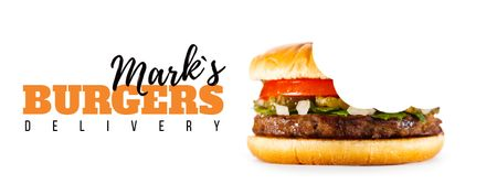 Biting yummy burger Facebook Video cover Modelo de Design