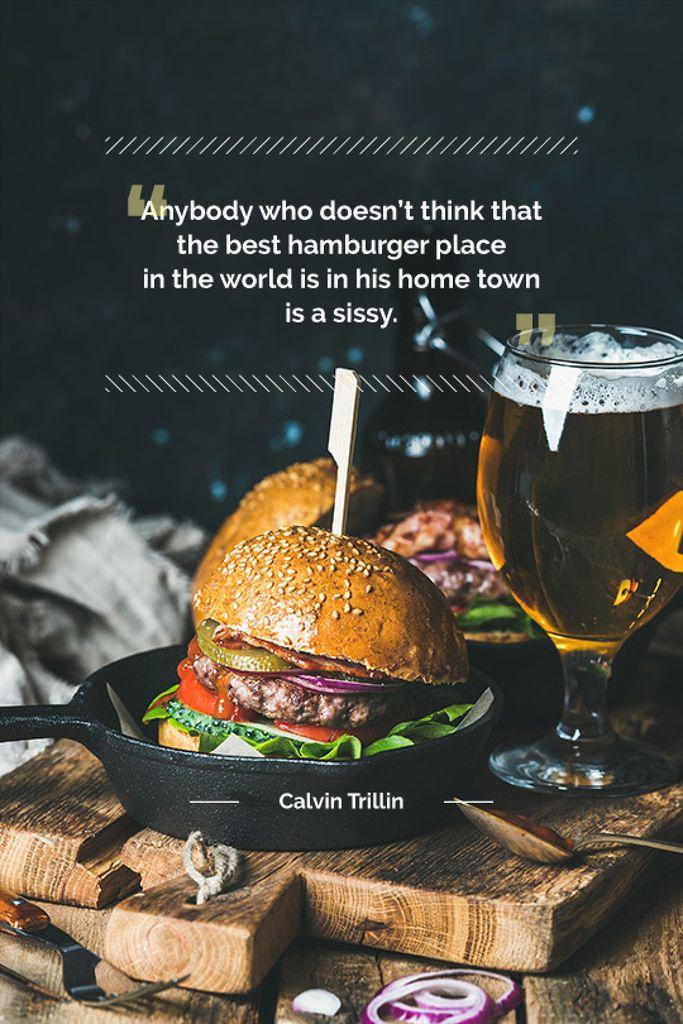 delicious hamburger with quotation - Bir Tasarım Oluşturun