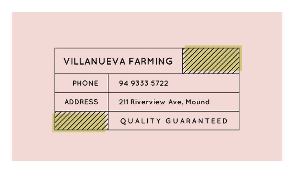 Minimalistic Lines Frame in Pink | Business Card Template — Créer un visuel