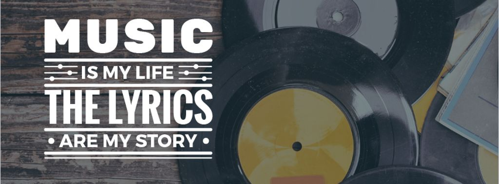 Vinyl music plates with inscription — Modelo de projeto