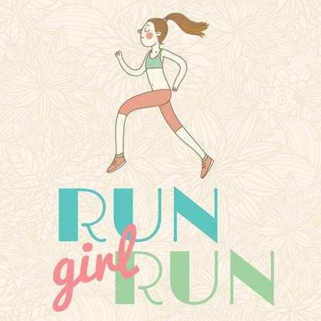 Ontwerpsjabloon van Instagram AD van Workout Inspiration Girl Running