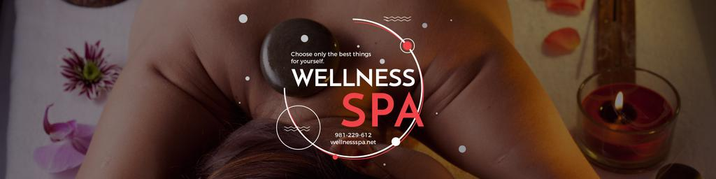 Wellness spa website poster — Modelo de projeto