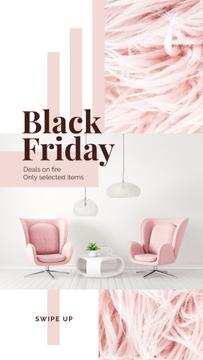 Black Friday Deal Cozy Interior in Pink Color